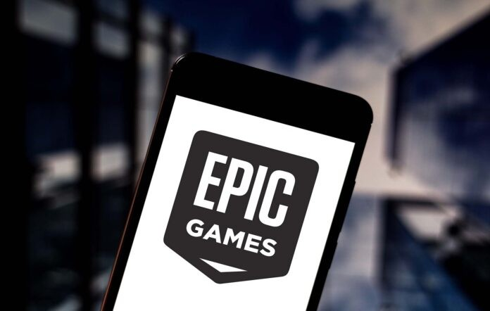 brazil. 23rd may, 2019. in this photo illustration the epic games logo is seen displayed on a smartphone. credit: rafael henrique/sopa images/zuma wire/alamy live news