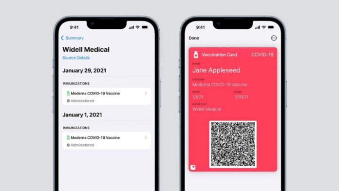 apple wallet vaccine card support covid 19 1280x720